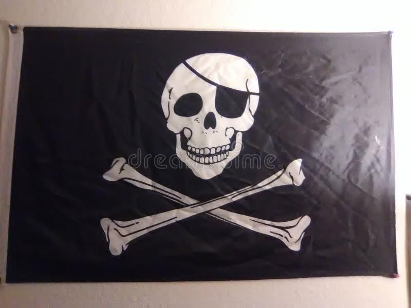 Bandierina di pirata immagine stock