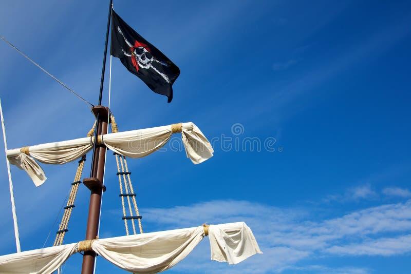 Bandierina di pirata fotografia stock