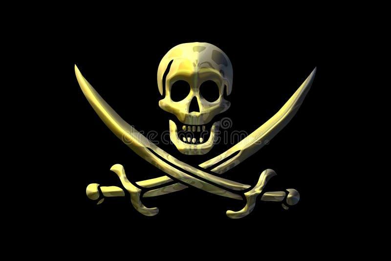 Bandierina di pirata illustrazione di stock