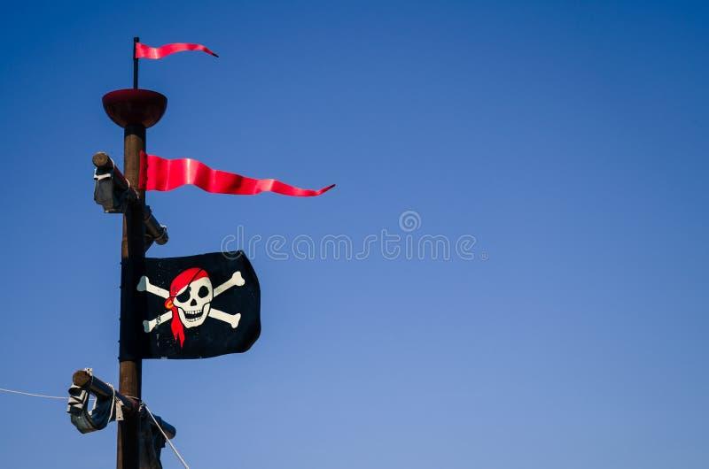 Bandierina di pirata fotografie stock libere da diritti
