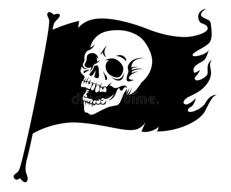 Bandierina di pirata nera illustrazione vettoriale