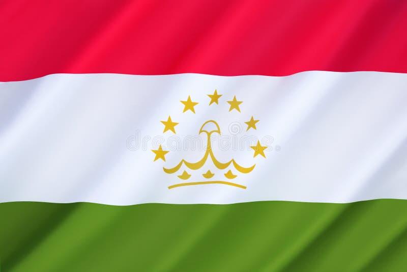 Bandierina di Tajikistan fotografie stock