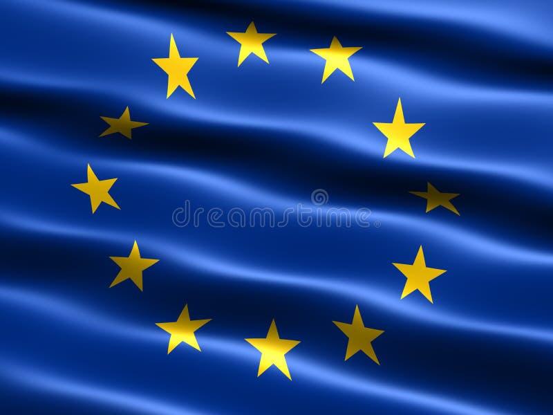 Bandierina di Unione Europea illustrazione vettoriale