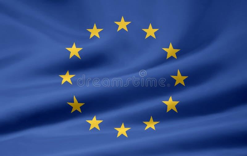 Bandierina di Unione Europea illustrazione di stock