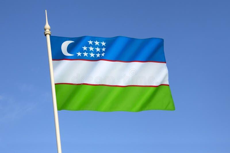 Bandierina di Uzbekistan immagini stock libere da diritti