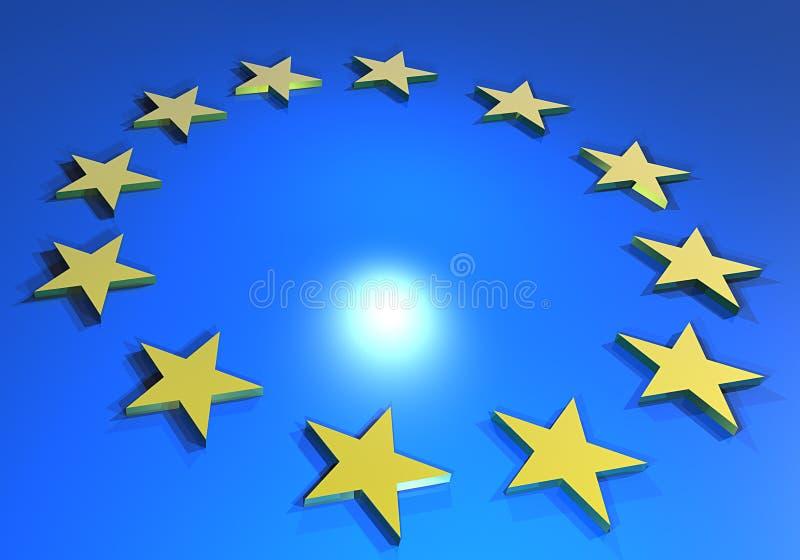 Bandierina europea illustrazione vettoriale