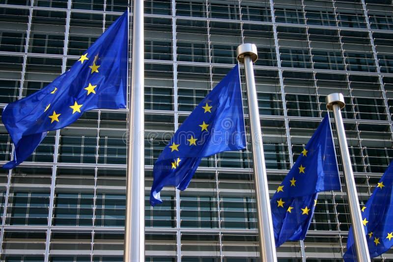 Bandierina europea Bruxelles fotografie stock