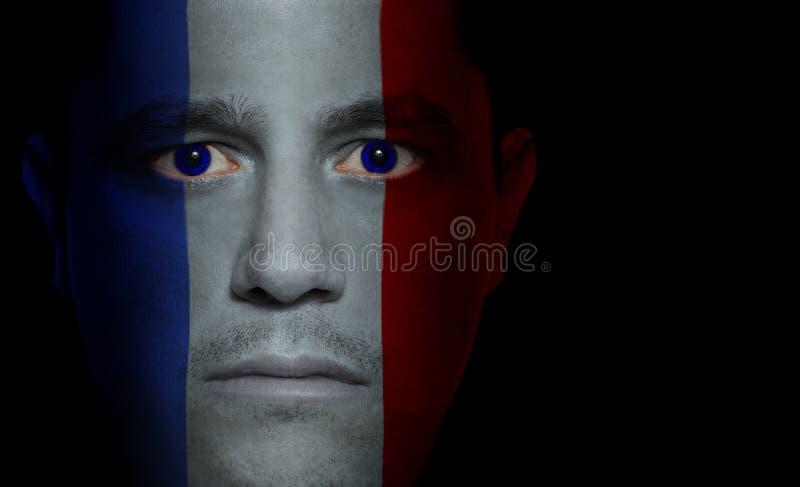 Bandierina francese - fronte maschio immagine stock
