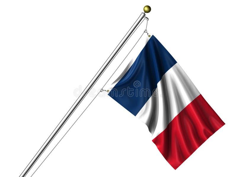 Bandierina francese isolata