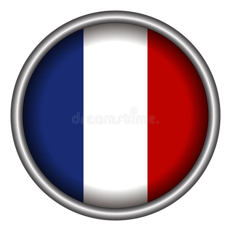 Bandierina francese isolata illustrazione di stock