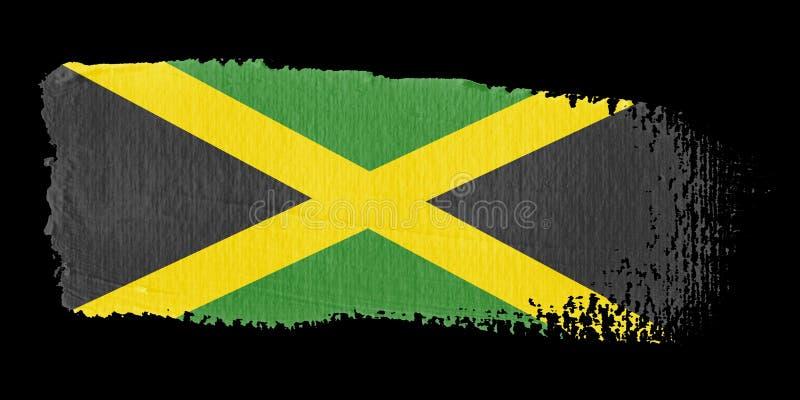 Bandierina Giamaica di Brushstroke illustrazione vettoriale