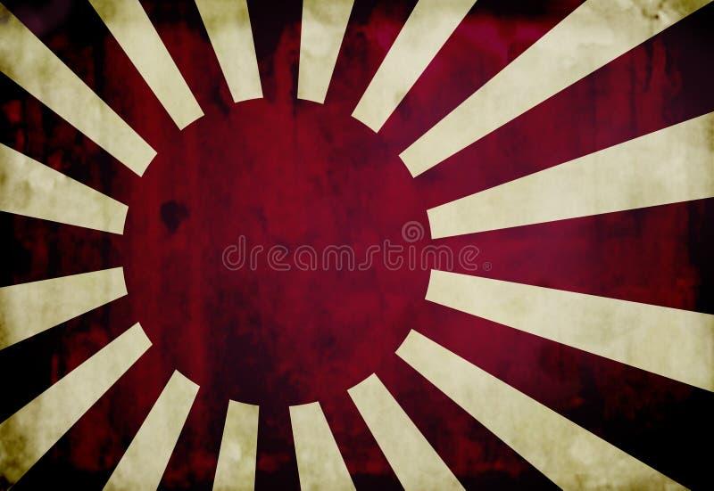 Bandierina giapponese del blu marino di Grunge illustrazione di stock