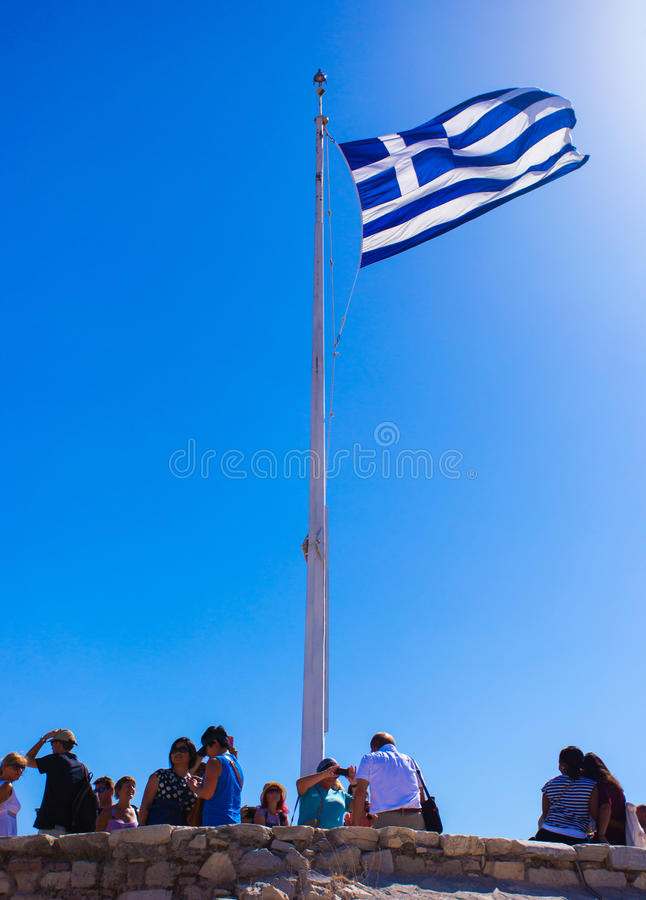 Bandierina greca immagine stock libera da diritti