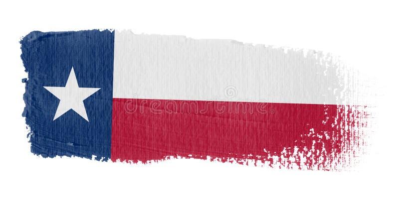 Bandierina il Texas di Brushstroke illustrazione di stock