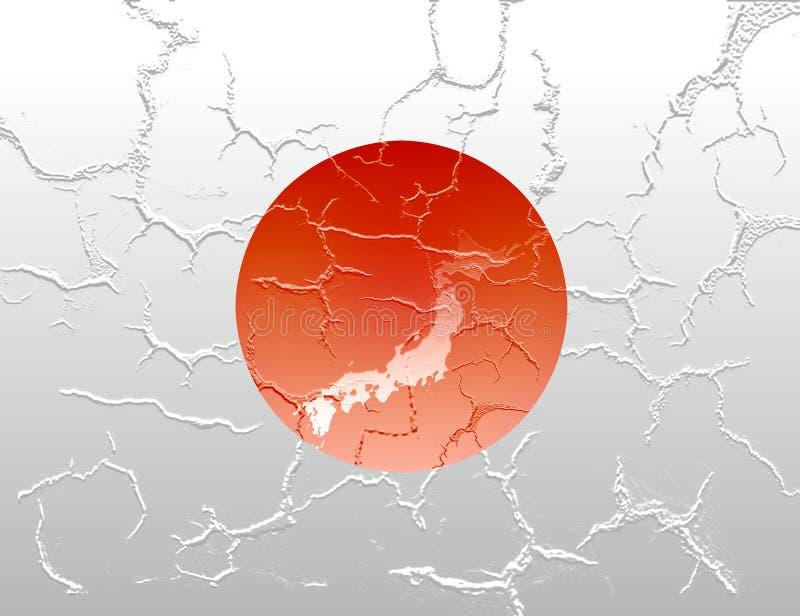 Bandierina incrinata del Giappone royalty illustrazione gratis