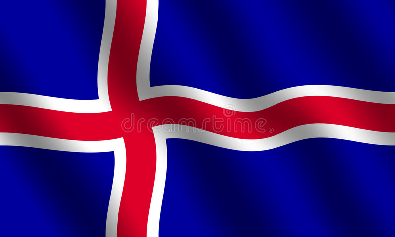 Bandierina islandese illustrazione vettoriale