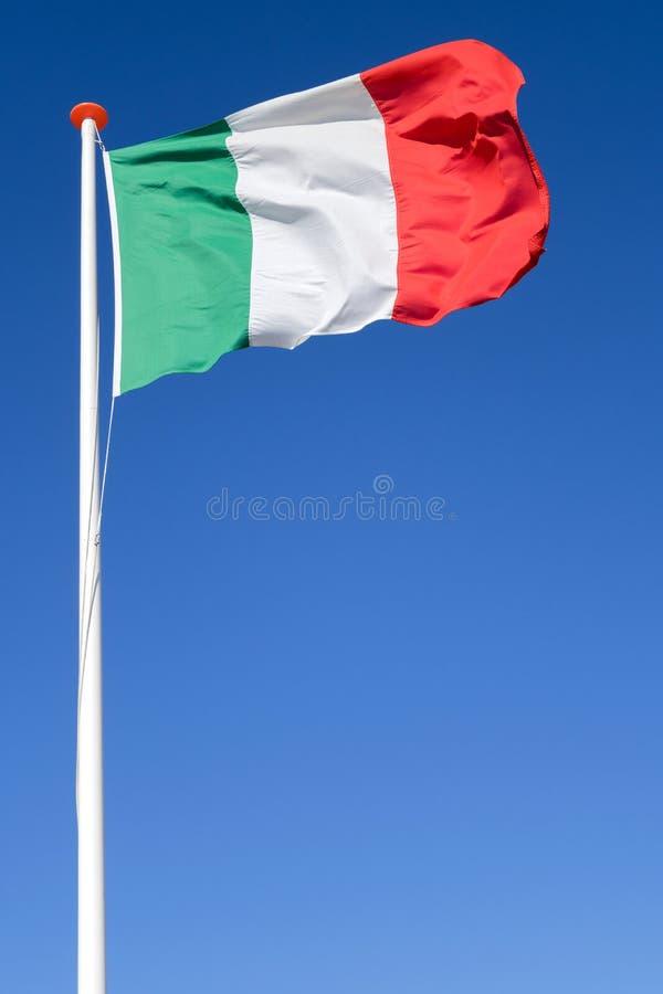 Bandierina italiana fotografie stock libere da diritti