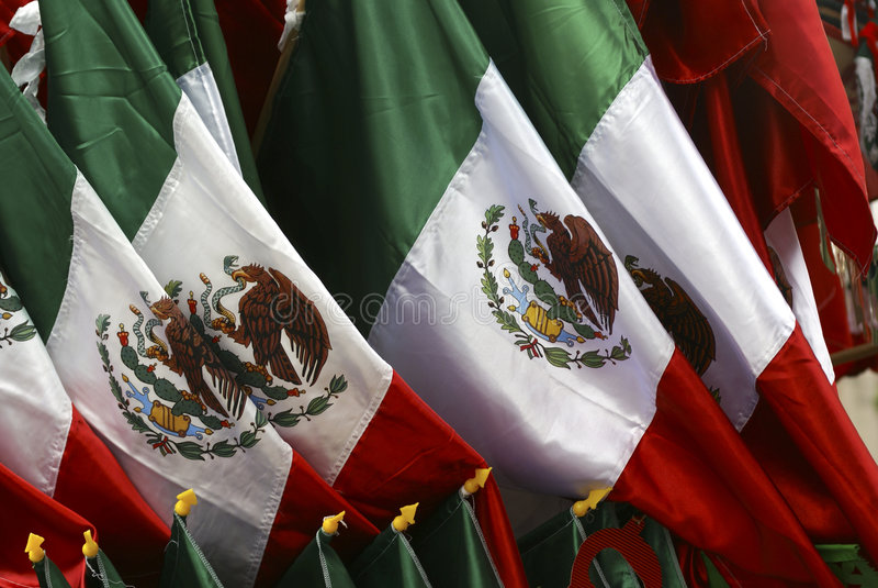 Bandierina messicana immagini stock libere da diritti