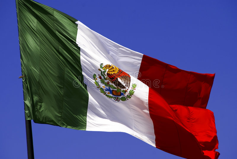 Bandierina messicana fotografia stock