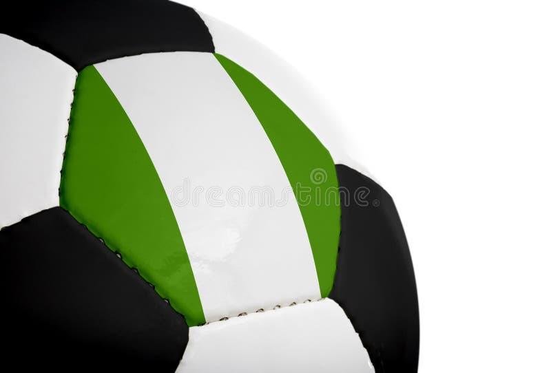 Bandierina nigeriana - gioco del calcio fotografia stock libera da diritti