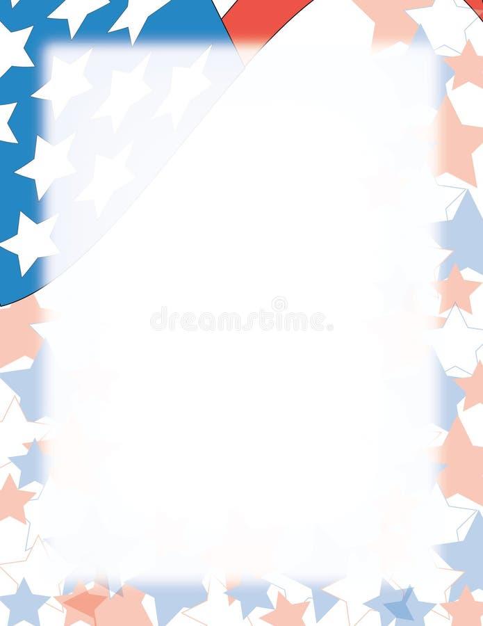 Bandierina patriottica illustrazione vettoriale