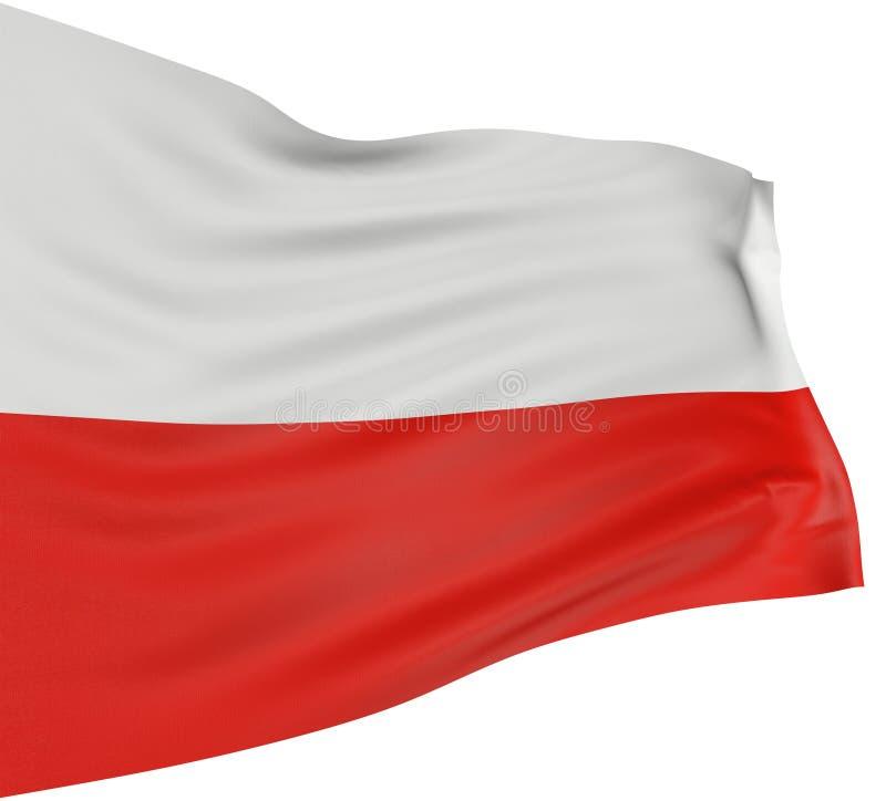 bandierina polacca 3D illustrazione di stock
