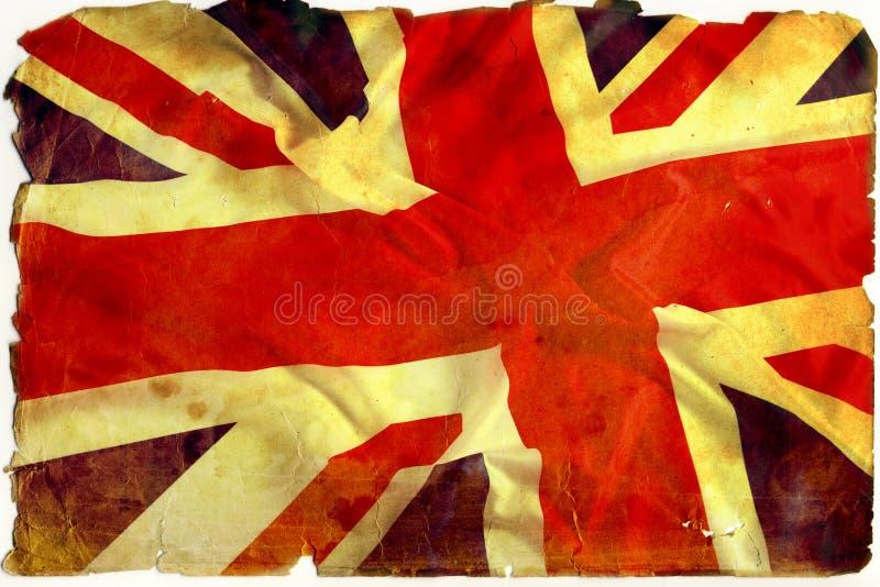 Bandierina Regno Unito dell'annata fotografia stock libera da diritti