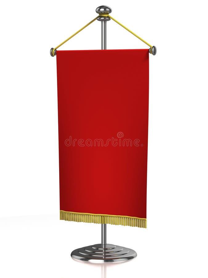 Bandierina rossa della tabella isolata illustrazione vettoriale