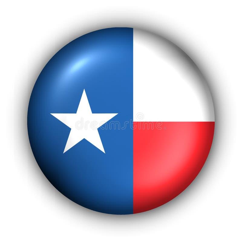 Bandierina rotonda della condizione degli S.U.A. del tasto del Texas royalty illustrazione gratis