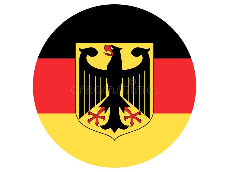 Bandierina rotonda della Germania illustrazione vettoriale