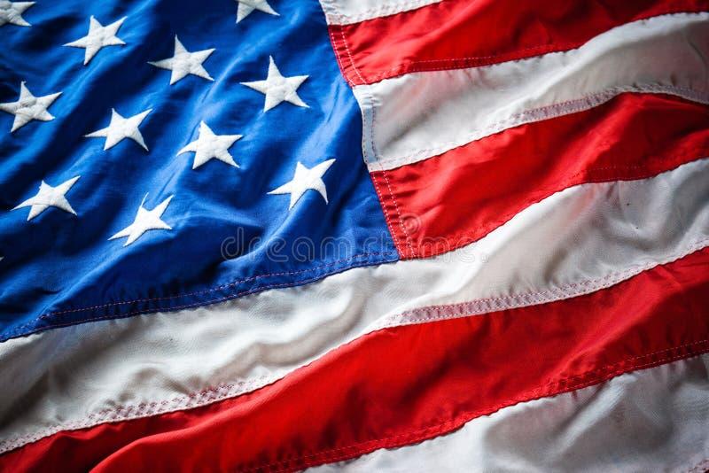 Bandierina S.U.A. fotografie stock libere da diritti