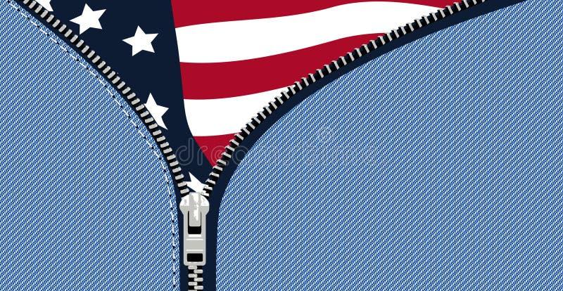 Bandierina S.U.A illustrazione vettoriale