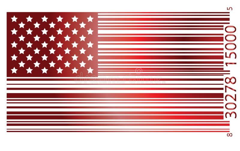 Bandierina S.U.A. illustrazione vettoriale