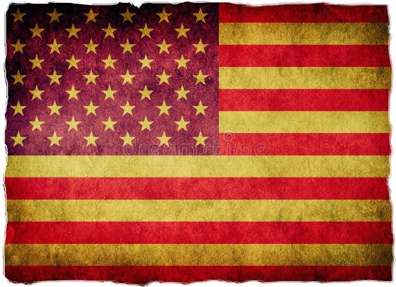 Bandierina S.U.A. Stati Uniti di Grunge illustrazione vettoriale