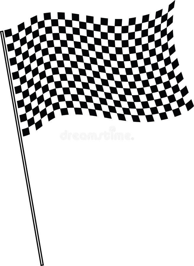 Bandierina su rivestimento. illustrazione di stock