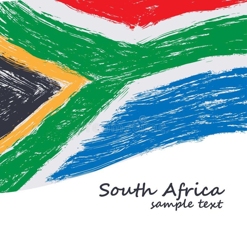 Bandierina sudafricana illustrazione vettoriale