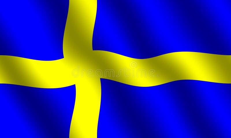 Bandierina svedese illustrazione di stock