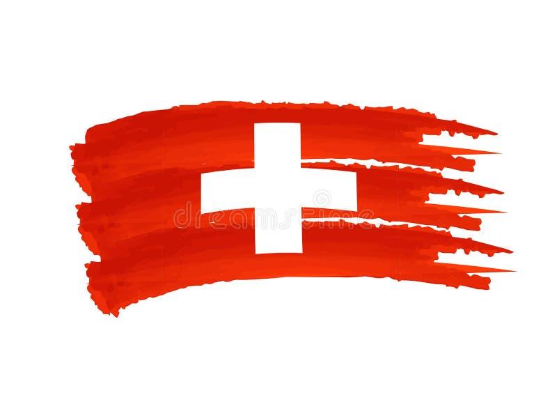 Bandierina svizzera illustrazione vettoriale