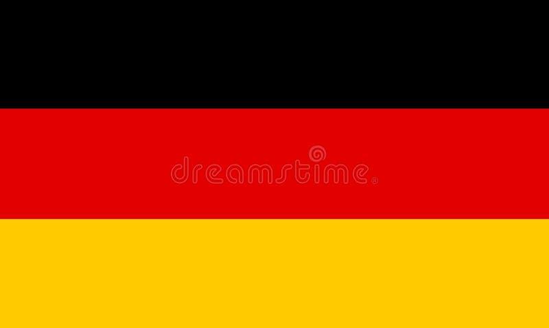 Bandierina tedesca illustrazione di stock