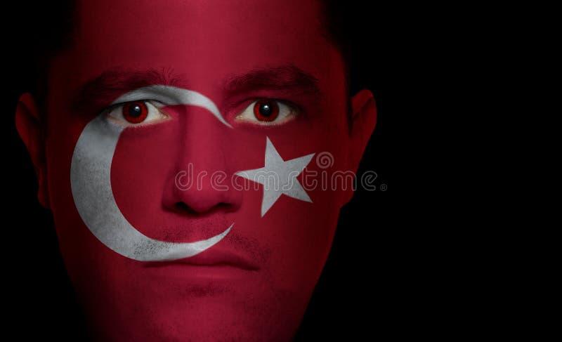 Bandierina turca - fronte maschio immagine stock libera da diritti