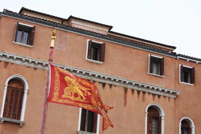 Bandierina veneziana Architettura veneziana quadrato fotografia stock libera da diritti