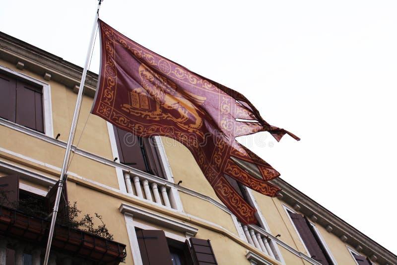 Bandierina veneziana Architettura veneziana quadrato immagini stock