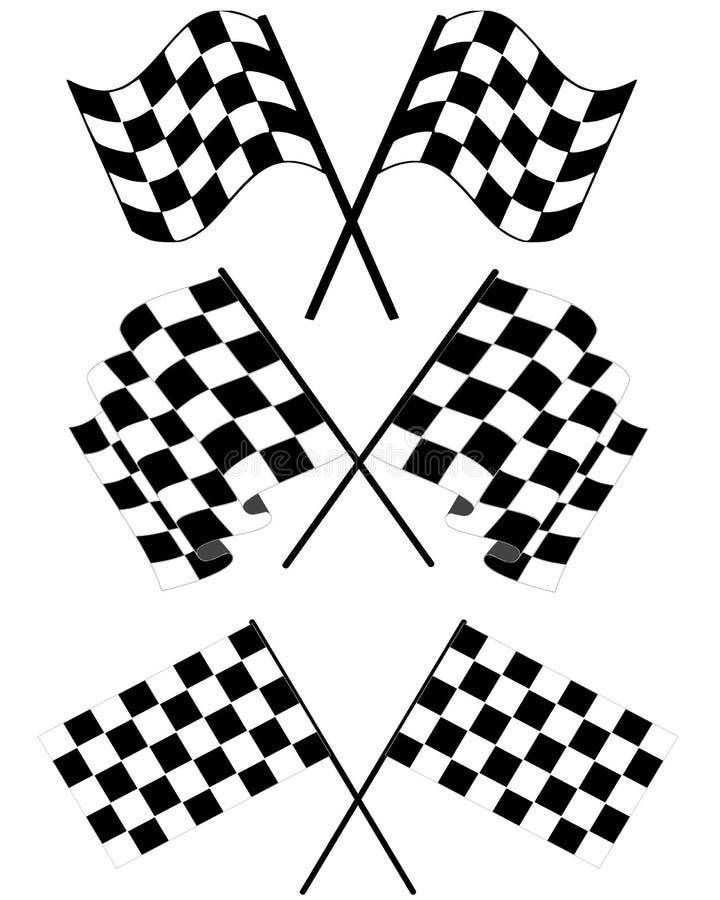 Bandierine Checkered illustrazione vettoriale