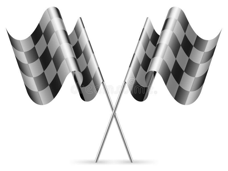 Bandierine Checkered. Fotografia Stock