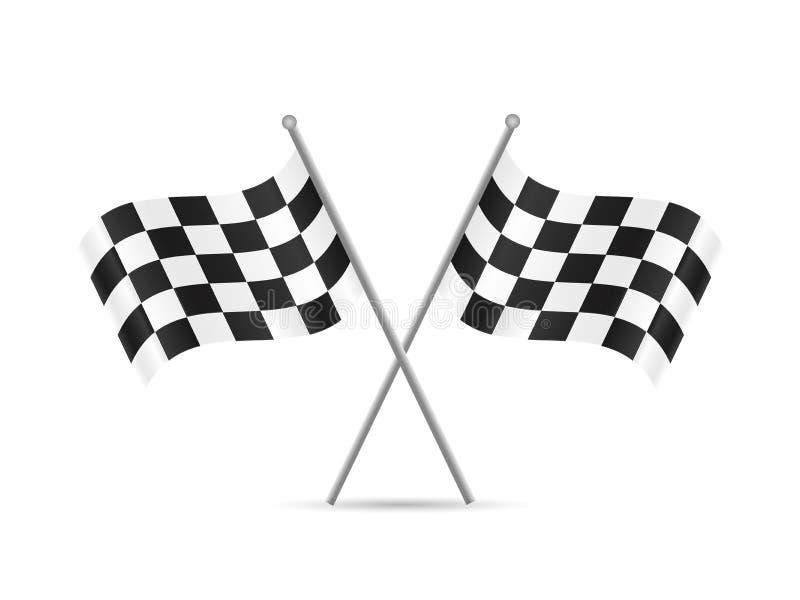 Bandierine Checkered illustrazione di stock