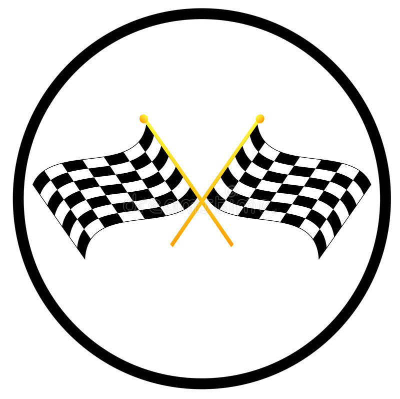Bandierine Checkered royalty illustrazione gratis