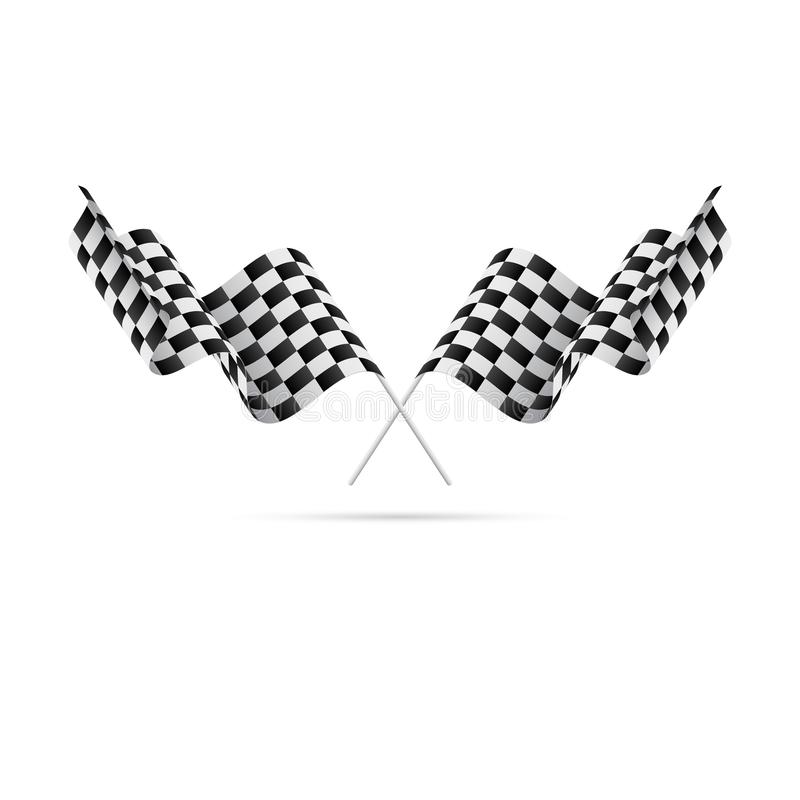 Bandierine Checkered Corsa delle bandierine Illustrazione di vettore illustrazione vettoriale