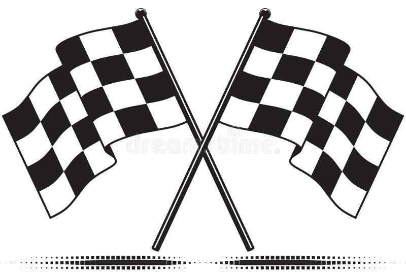 Bandierine Checkered - ha raggiunto l'obiettivo illustrazione vettoriale