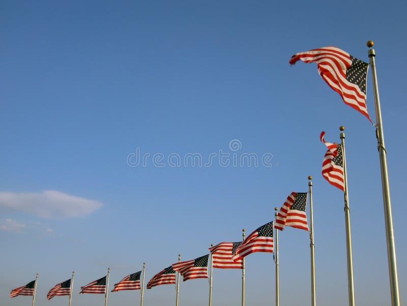 Bandierine degli Stati Uniti fotografia stock