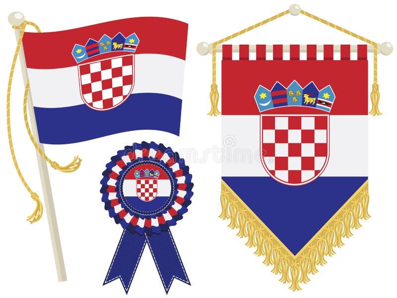 Bandierine del Croatia illustrazione di stock